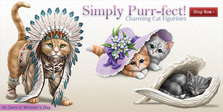 Simply Purr-fect! Charming Cat Figurines - Shop Now