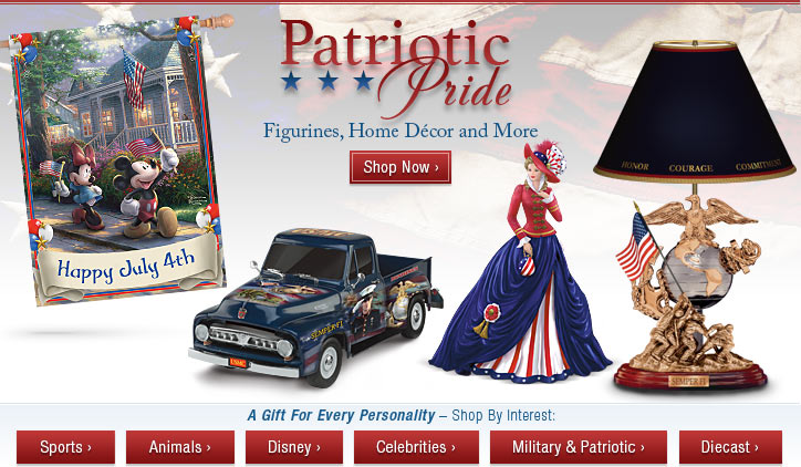 Patriotic Pride - Figurines, Home Decor and More - Shop Now