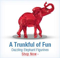 A Trunkful of Fun - Dazzling Elephant Figurines - Shop Now