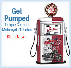 Get Pumped - Unique Car and Motorcycle Tributes - Shop Now