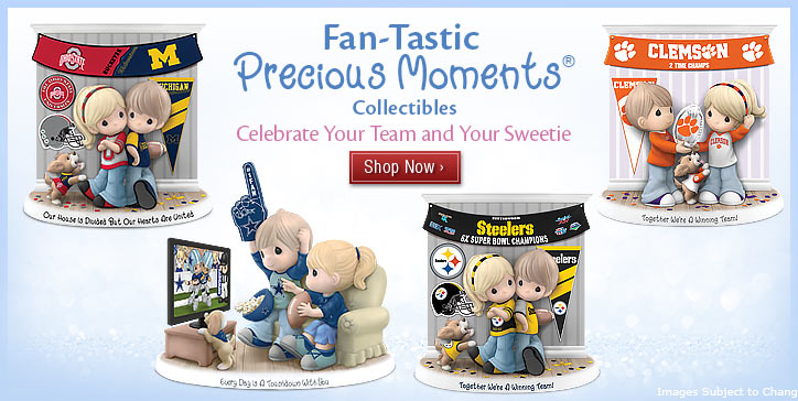 Fan-Tastic Precious Moments(R) Collectibles -  Celebrate Your Team and Your Sweetie - Shop Now