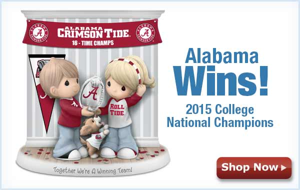Alabama Wins! 2015 College National Champions - Shop Now