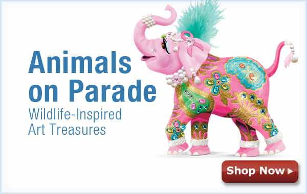 Animals on Parade - Wildlife-Inspired Art Treasures - Shop Now