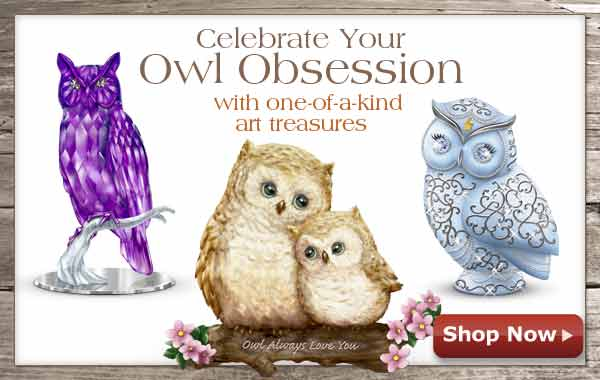 Celebrate Your Owl Obsession with one-of-a-kind art treasures - Shop Now