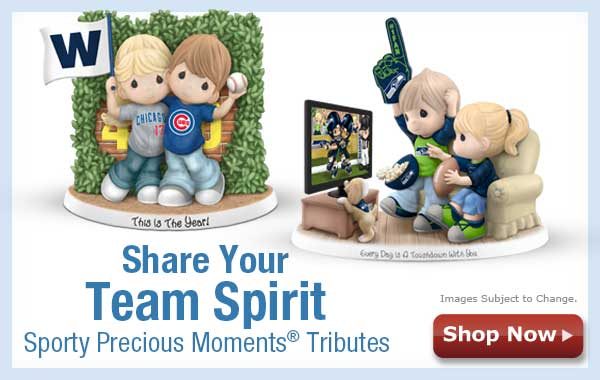 Share Your Team Spirit - Sporty Precious Moments(R) Tributes - Shop Now